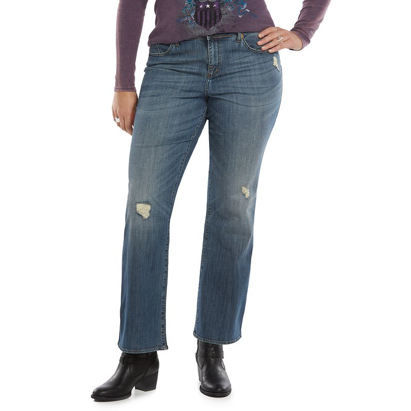 Plus Size Rock & Republic® High-Waist Bootcut Jeans