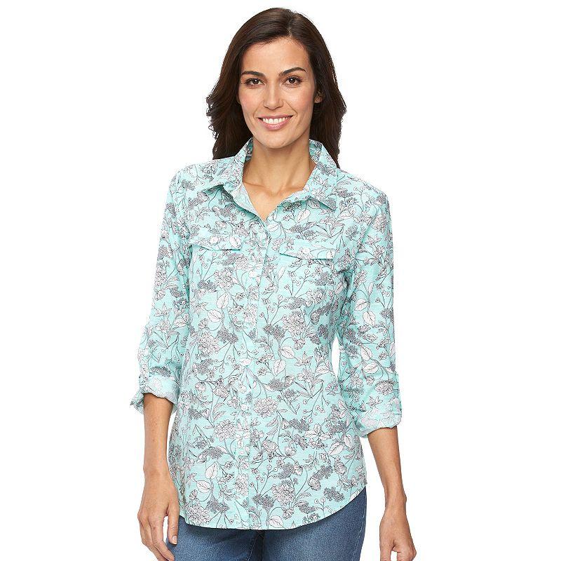 Women's Croft & Barrow® Floral Shirt