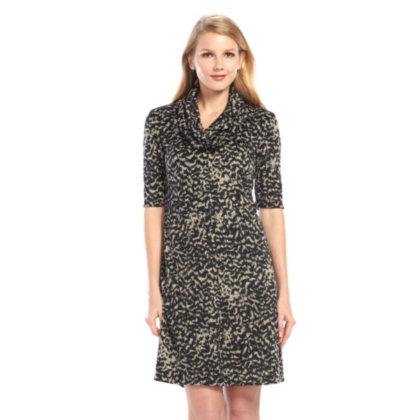 Ronni Nicole Leopard Shift Dress - Women's