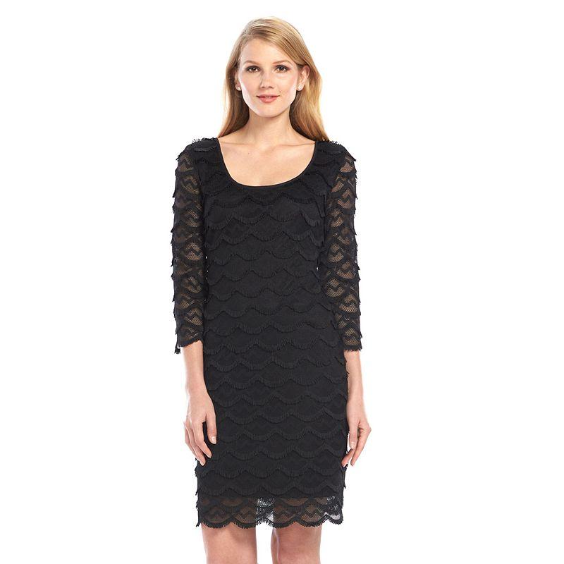 Ronni Nicole Scalloped Fringe Sheath Dress - Women's