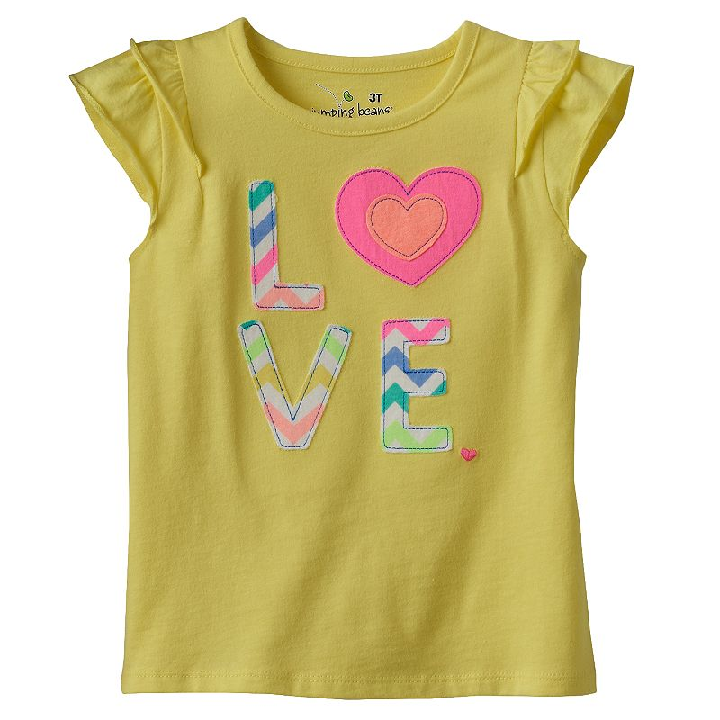 Toddler Girl Jumping Beans® Pattern Applique Tee