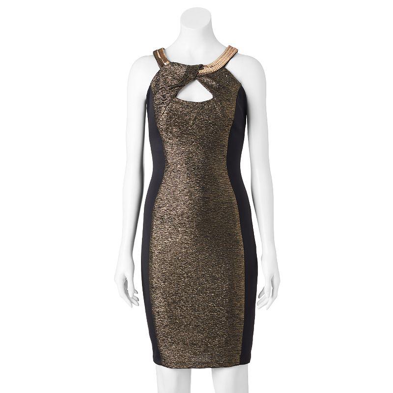 Women's Jax Glitter Colorblock Sheath Dress