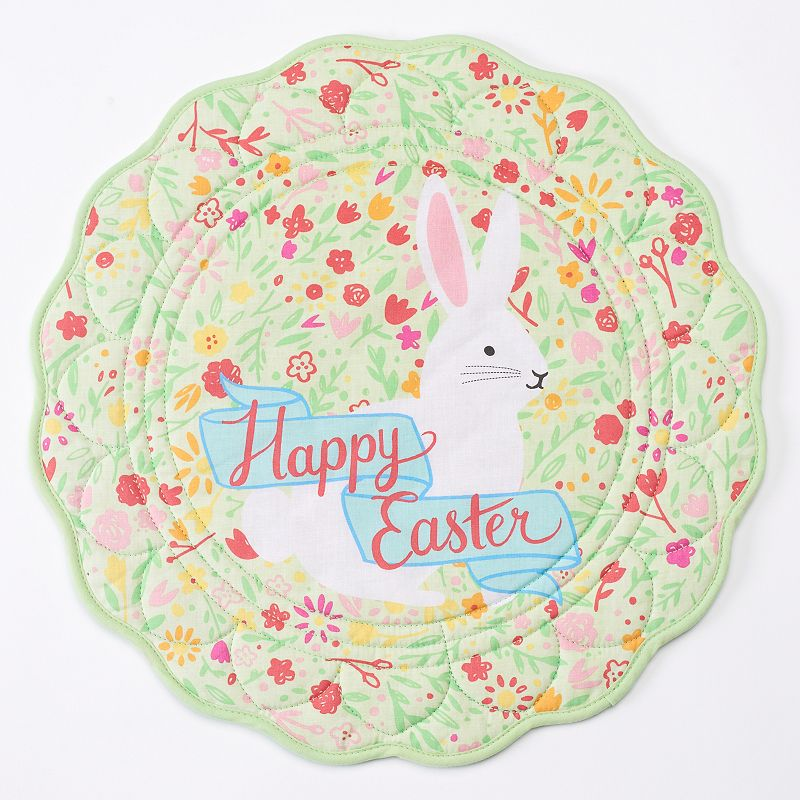 Celebrate Easter Together Bunny Floral Placemat