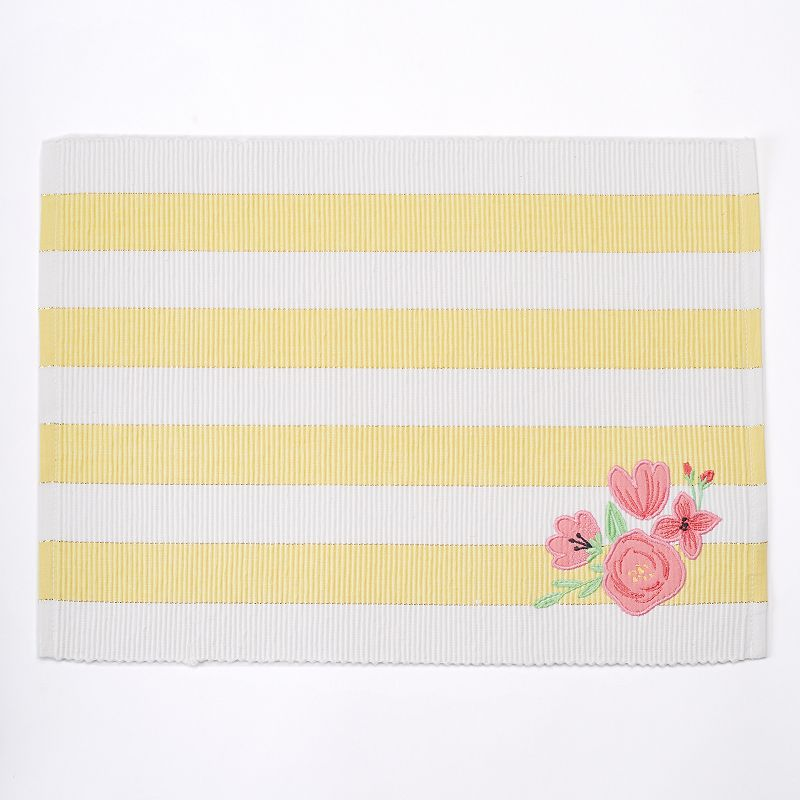 Celebrate Easter Together Striped Floral Placemat