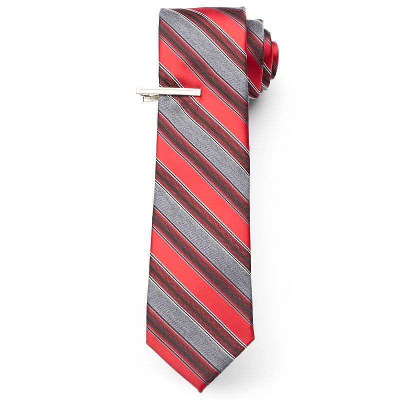 Men's Van Heusen Blending Stripe Skinny Tie with Tie Bar