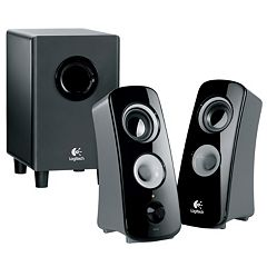 Logitech Z323 Speaker System with Wired Subwoofer by