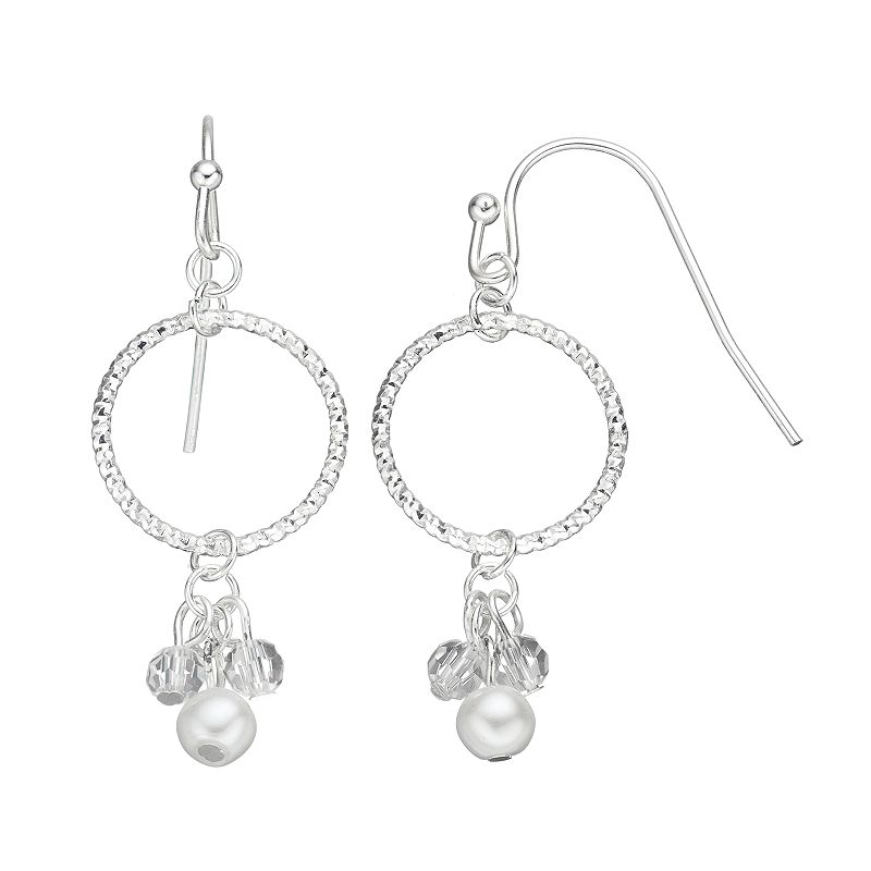 LC Lauren Conrad Textured Hoop Drop Earrings
