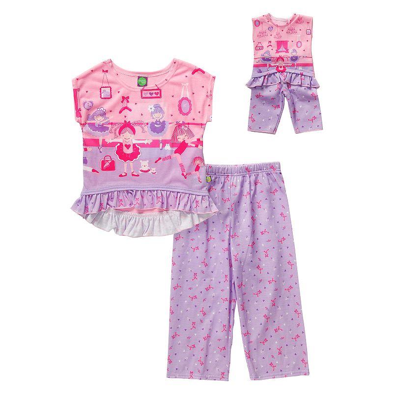 Girls 4-14 Dollie & Me Ballerina Pajama Set