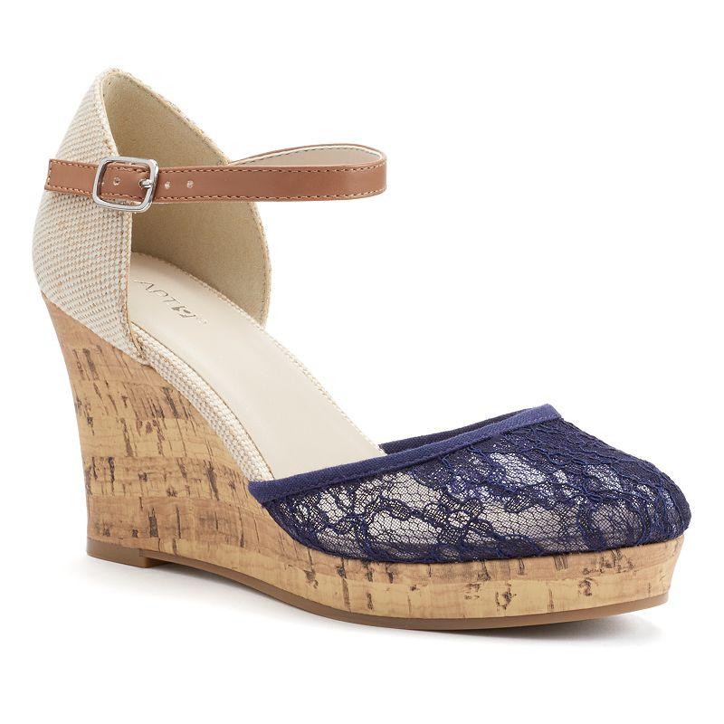 Apt. 9® Women's Lace Platform Wedge Sandals
