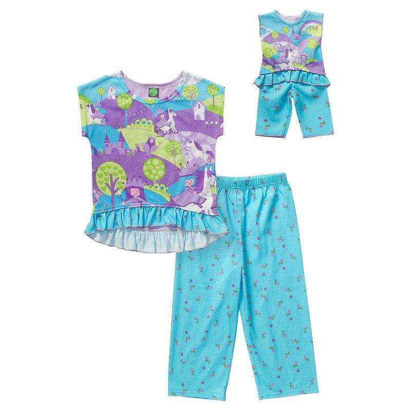 Girls 4-14 Dollie & Me Fairytale Pajama Set