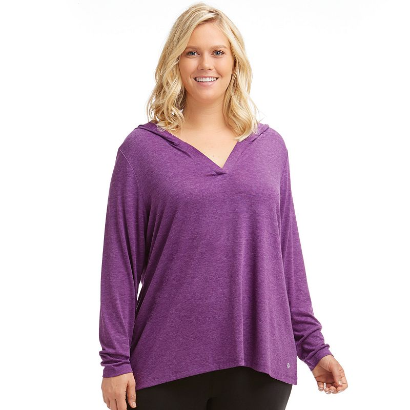 Plus Size Bally Total Fitness Flex Workout Hoodie