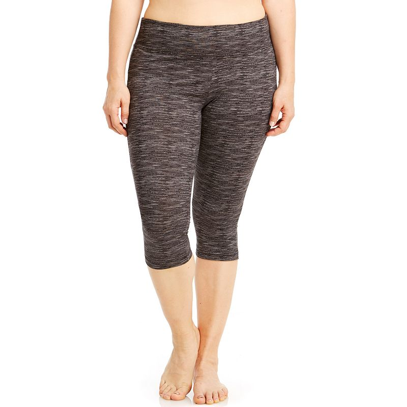 Plus Size Bally Total Fitness Printed Capri Workout Leggings