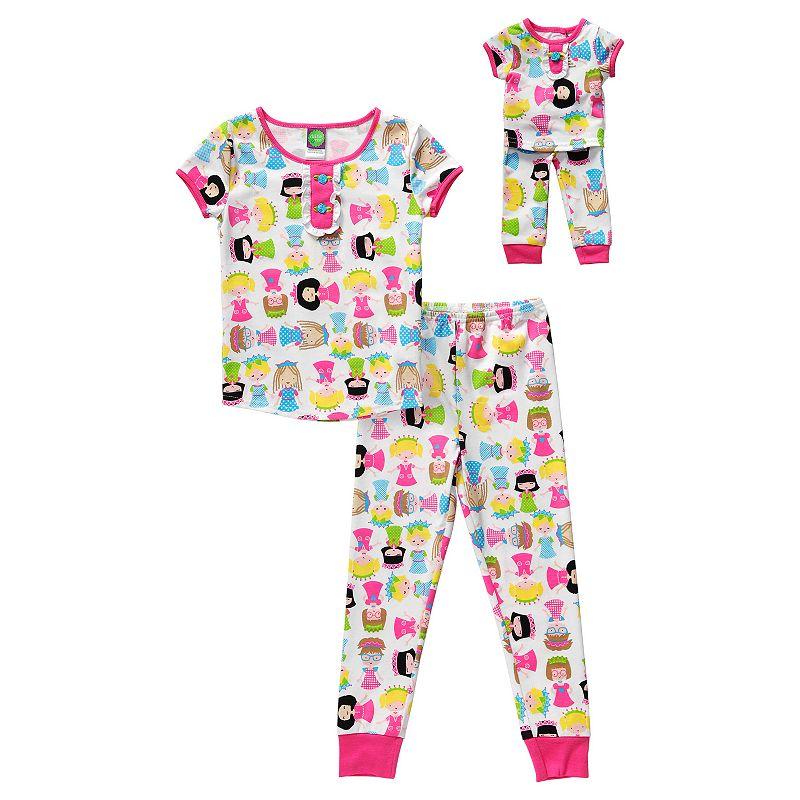 Girls 4-14 Dollie & Me Princess Pajama Set