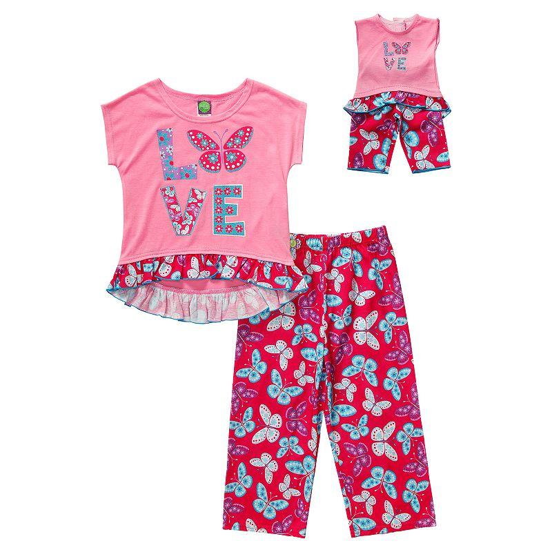 Girls 4-14 Dollie & Me Butterfly Pajama Set