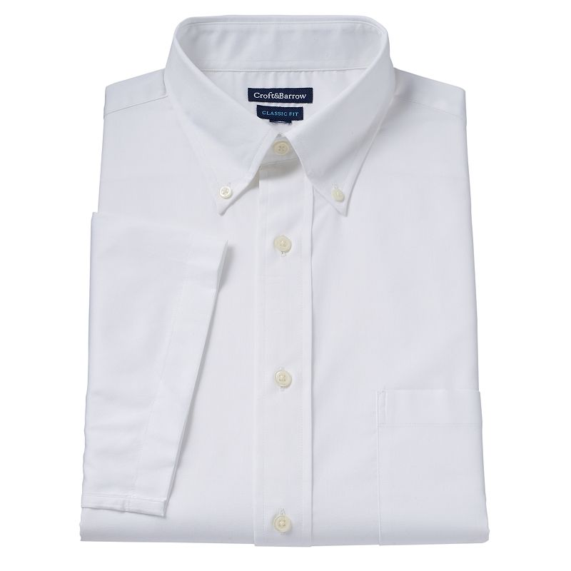 Men's Croft & Barrow® Button-Down Collar Dress Shirt
