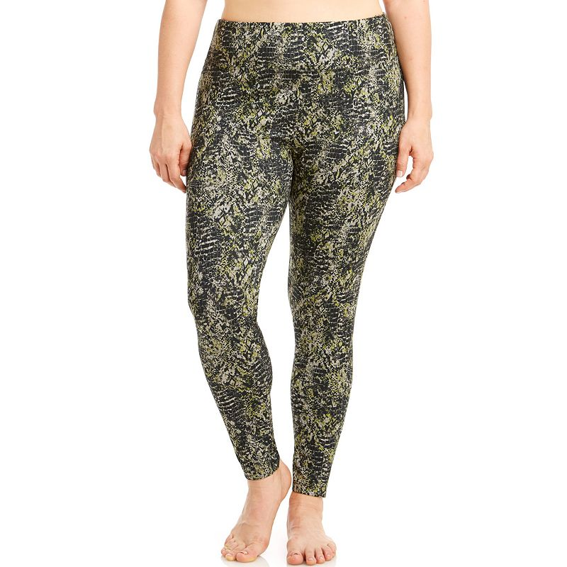 Plus Size Bally Total Fitness Printed Workout Leggings