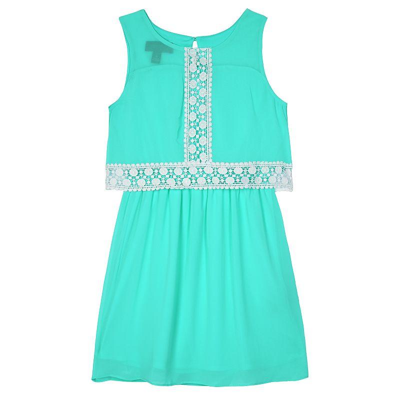 Girls 4-6x IZ Amy Byer Crochet Lace Popover Dress