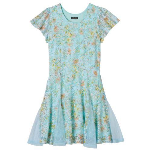 Girls 7-16 Lily Rose Cap-Sleeve ''Skater'' Dress