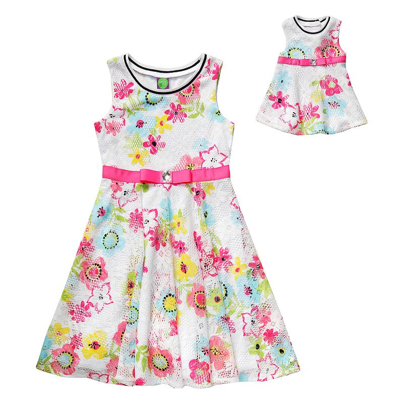 Girls 4-14 Dollie & Me Crochet Lace Floral Dress