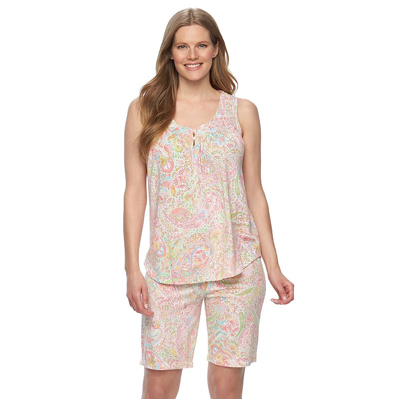 Plus Size Chaps Pajamas: Shelly Bay Tank & Shorts Pajama Set
