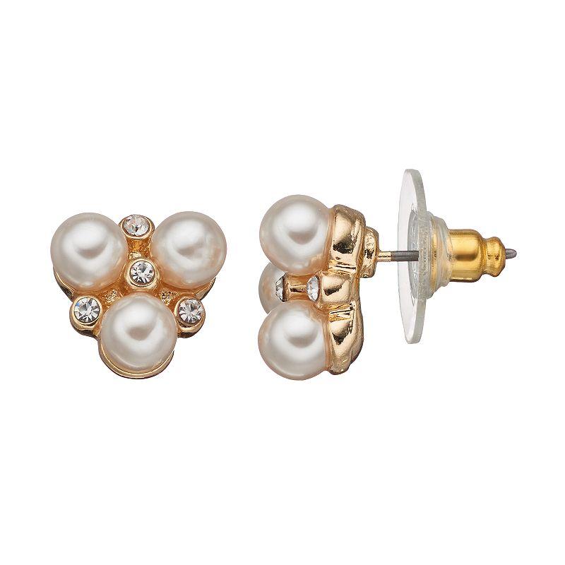 LC Lauren Conrad Cluster Button Stud Earrings