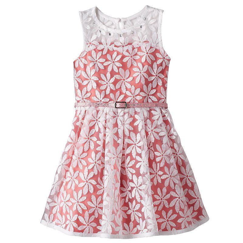 Girls 4-6x Knitworks Floral Mesh Skater Dress