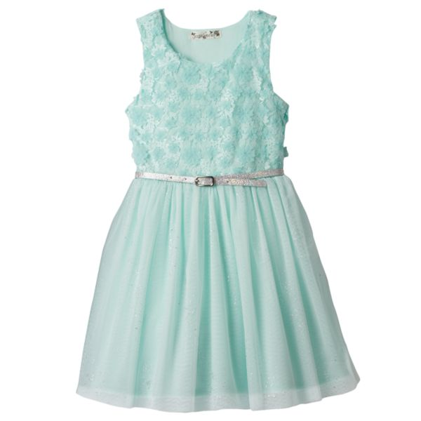 Girls 4-6x Knitworks Floral Lace Bodice Skater Dress
