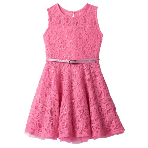 Girls 4-6x Knitworks Floral Lace Skater Dress