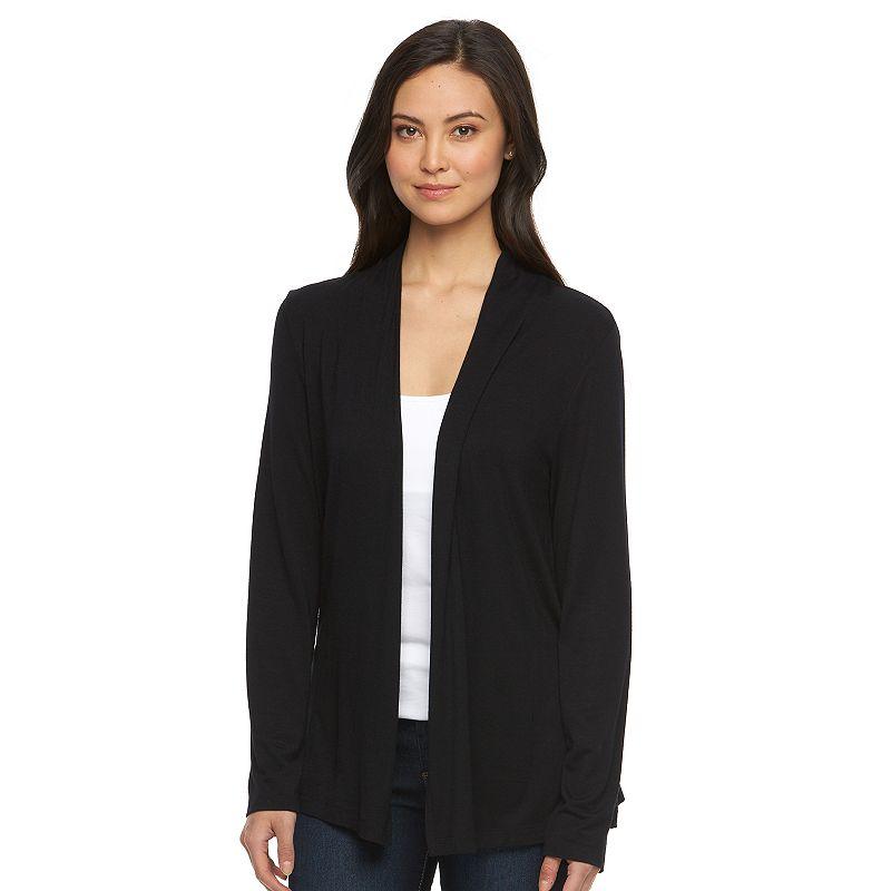 Women's Croft & Barrow® Solid Open-Front Cardigan
