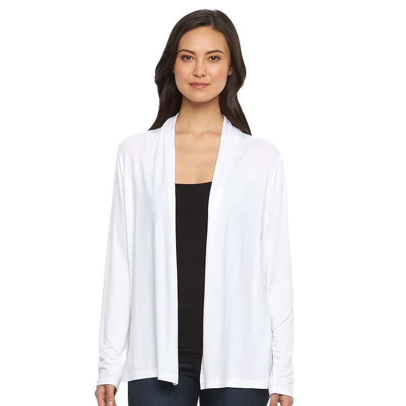 Women's Croft & Barrow® Solid Open-Front Cardigan