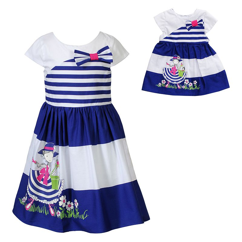 Girls 4-14 Dollie & Me Striped Dress