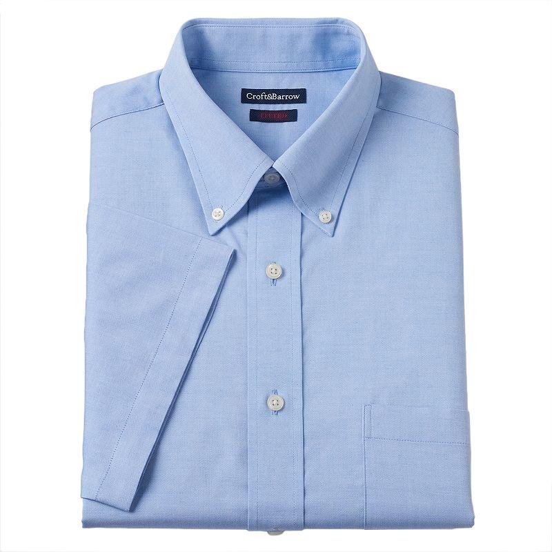 Men's Croft & Barrow® Fitted Button-Down Collar Dress Shirt