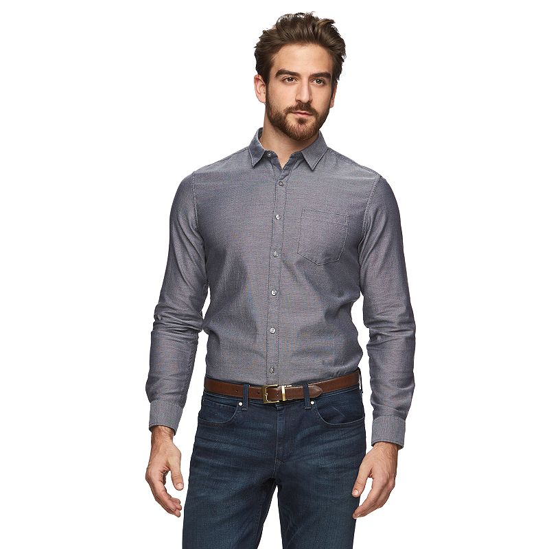 Men's Marc Anthony Slim-Fit Textured Button-Down Shirt