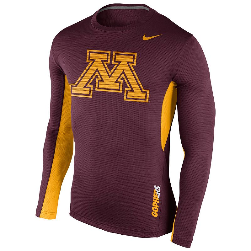 Men's Nike Minnesota Golden Gophers Vapor Dri-FIT Performance Long-Sleeve Tee