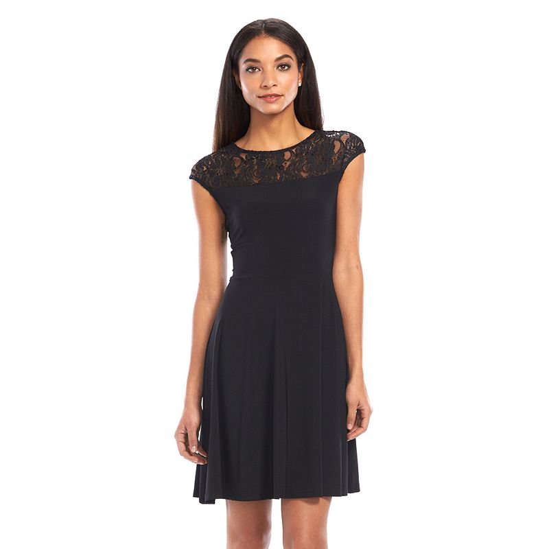 Onyx Nite Lace Fit & Flare Dress - Women's