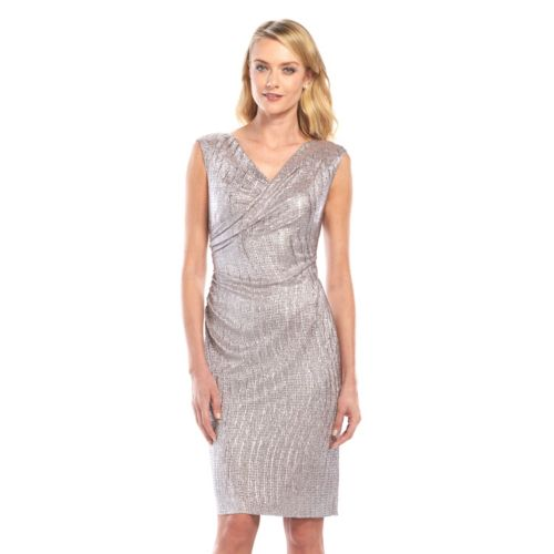 Connected Apparel Foiled Sheath Dress - Women's