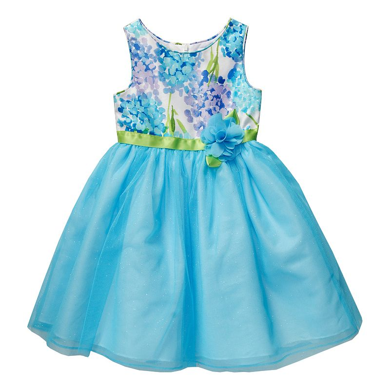 Girls 4-6x Youngland Floral Shimmer Shantung Dress