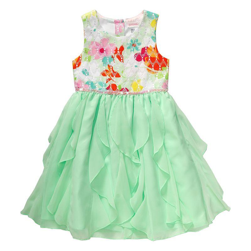 Girls 4-6x Youngland Floral Chiffon Cascade Dress