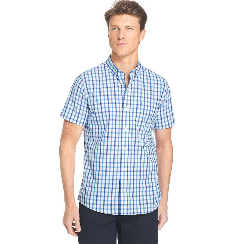 Men's IZOD Classic-Fit Plaid No-Iron Button-Down Shirt