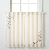 CHF Scroll Leaf Tier Curtain Pair