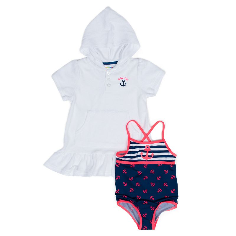 Toddler Girl Wippette Anchor One-Piece Swimsuit & Cover-Up Set