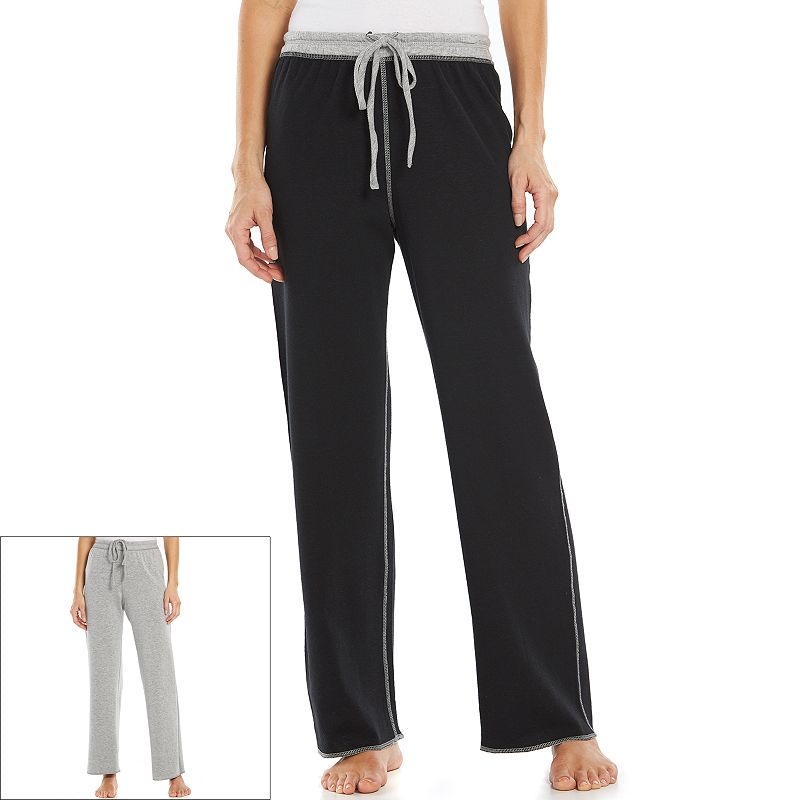 Women's Jaclyn Inc Pajamas: Solid Reversible Pajama Pants