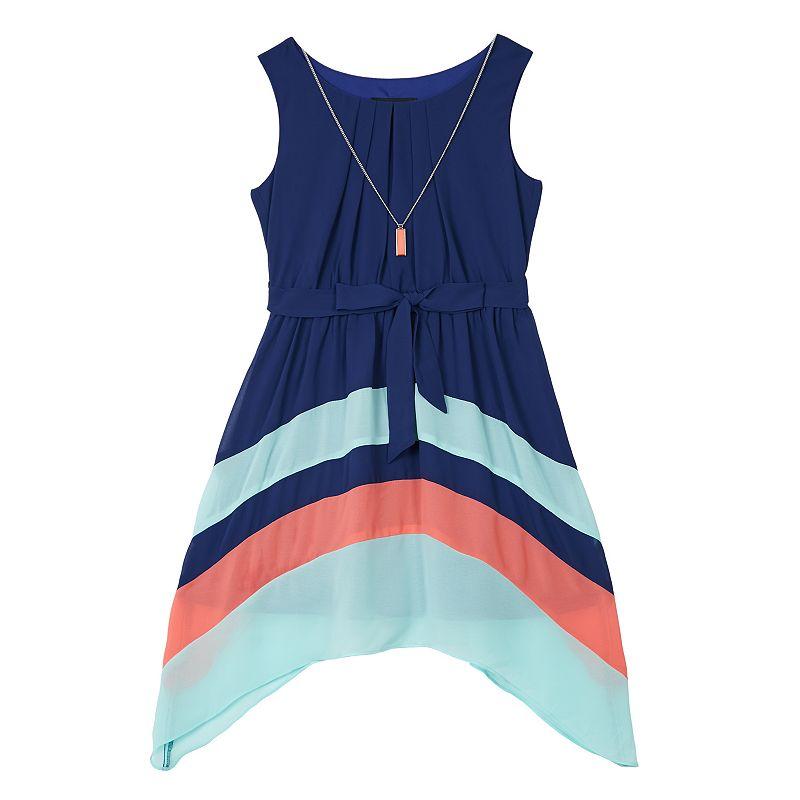 Girls' Plus Size IZ Amy Byer Colorblock Dress