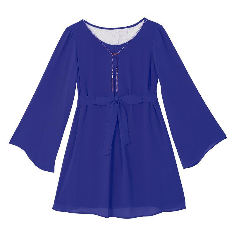 Girls' Plus Size IZ Amy Byer Bell Sleeve Dress