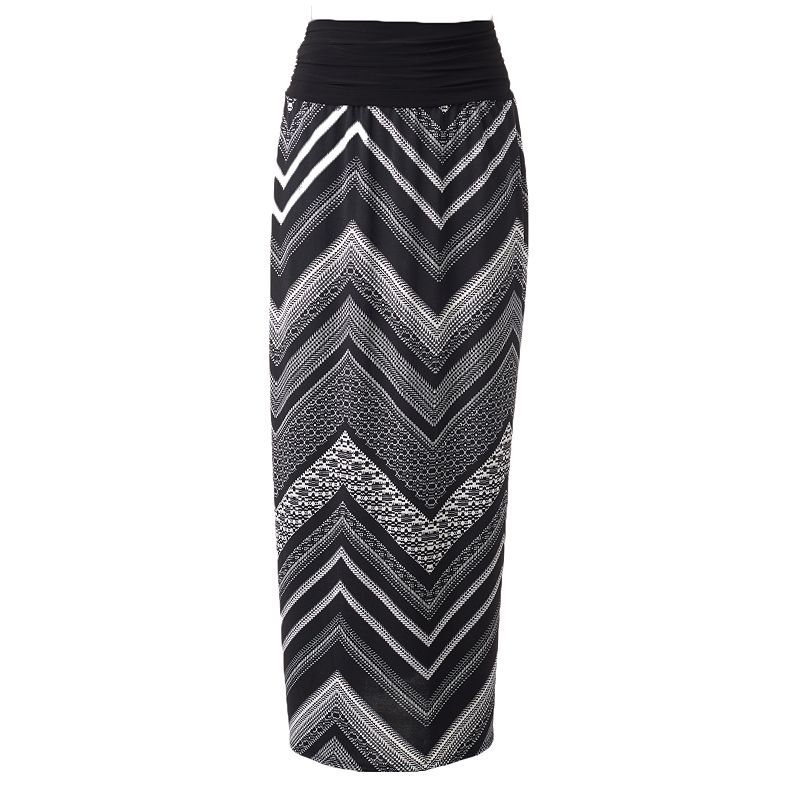Women's AB Studio Chevron Maxi Skirt