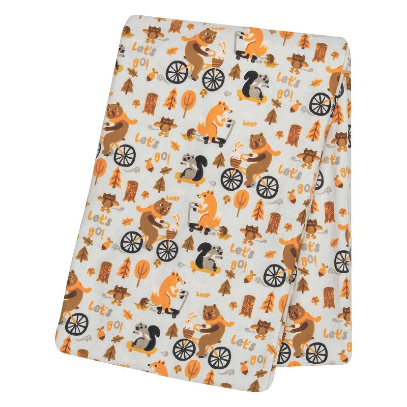 Trend Lab Let's Go Flannel Swaddle Blanket