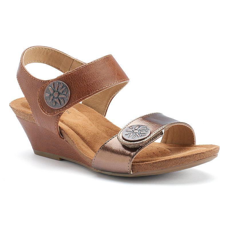 Croft & Barrow® Women's Velcro Wedge Sandals