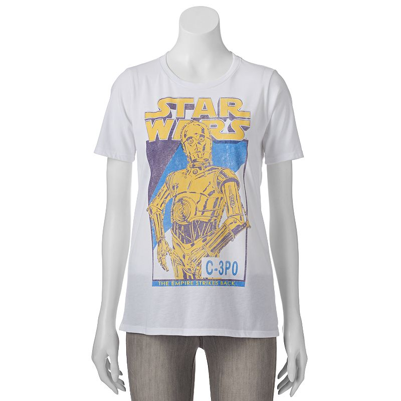 Juniors' Star Wars C-3PO T-Shirt