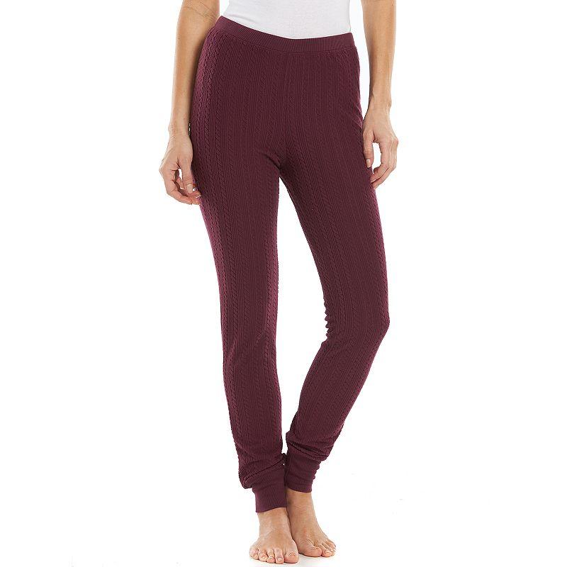 Women's Jaclyn Inc Pajamas: SuperSpan Textured Fleece Sleep Leggings