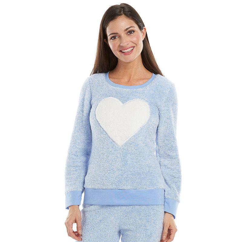 Women's Jaclyn Inc Pajamas: Plush Heart Pajama Top